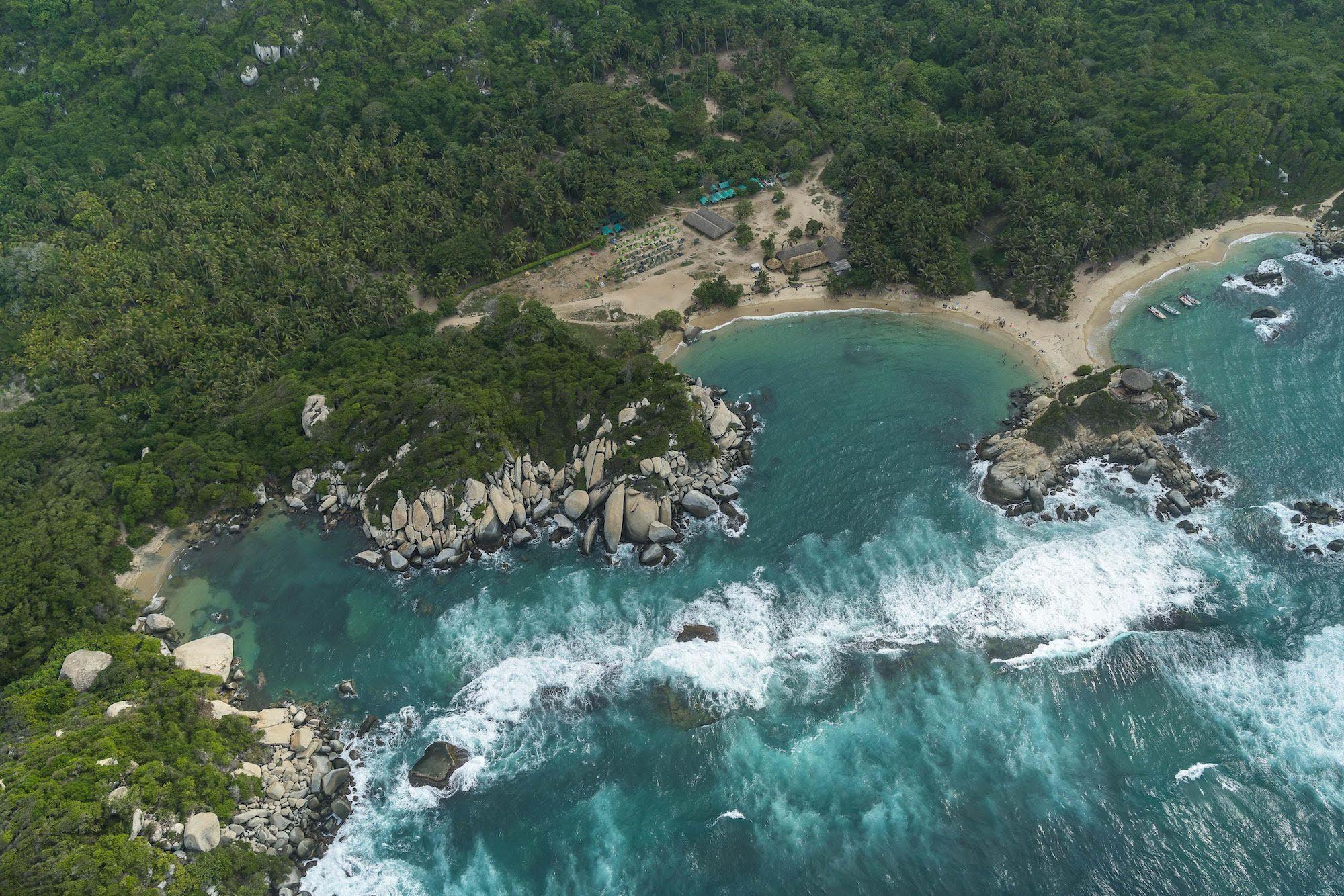 Playa Cabo San Juan del guía aerea