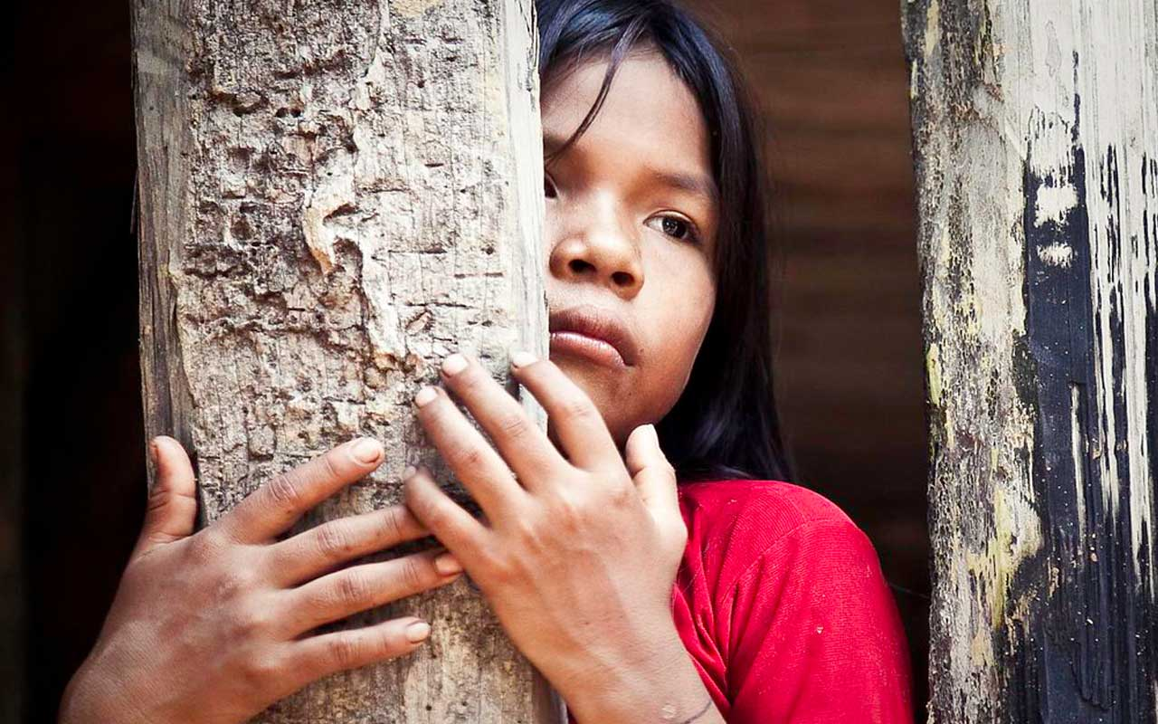 Witotobora y ticuna en el amazonas.